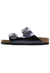 Birkenstock Arizona Slippers Metallic Dark Sapphire Mottled Dark Blue