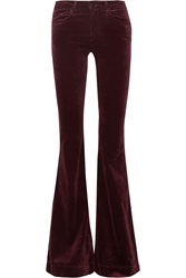 J Brand Bella Stretch Velvet Flared Pants