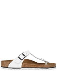Birkenstock Gizeh Patent Leather Thong Sandals White