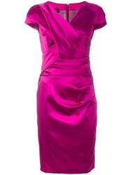 Talbot Runhof 'Lodovica' Dress Pink Purple