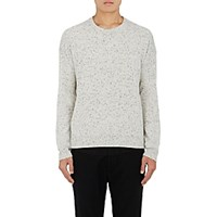 Barneys New York Men's Donegal Effect Cashmere Sweater Ivory