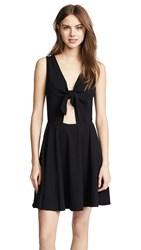 Three Dots Reversible Tie Dress Black