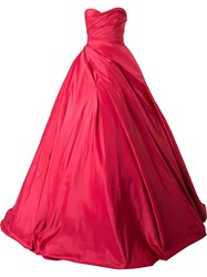 Romona Keveza Ball Gown Red