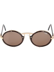 Cazal Round Frame Sunglasses Brown