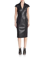 Alexia Admor Faux Leather Sheath Dress Black
