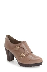 Bella Vita Women's 'Zia' Double Monk Strap Pump Stone Leather
