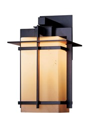 Hubbardton Forge Tourou Downlight Large Outdoor Sconce Incandescent Bronze Stone Brown