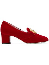 Gucci Heeled Loafers Red