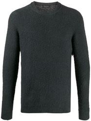 Roberto Collina Textured Relaxed Fit Jumper Grey
