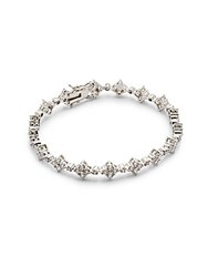 Saks Fifth Avenue Cubic Zirconia Studded Bracelet Rhodium