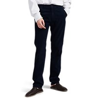Massimo Alba Washed Cotton Corduroy Trousers Navy