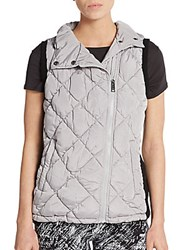 Andrew Marc New York Quilted Vest Silver Grey