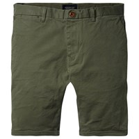 Scotch And Soda Classic Garment Dyed Shorts Army