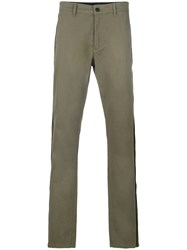 Hydrogen Chic Striped Chino Trousers Green
