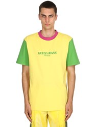 Guess Farmers Market By Sean Wotherspoon Cotton Jersey T Shirt Yellow Green