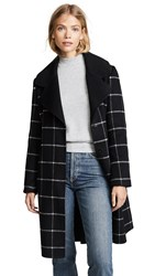 Baldwin Denim Martine Coat Black Plaid