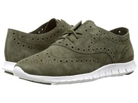 Cole Haan Zerogrand Wing Oxford Fatigue Suede Women's Shoes Green