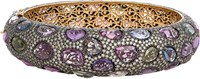 Munnu Women's Hinged Bangle Colorless