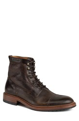 Trask Men's 'Lowell' Cap Toe Boot Dark Brown