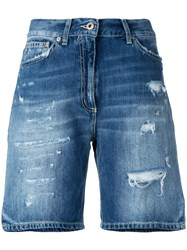 Dondup Distressed Denim Shorts Blue