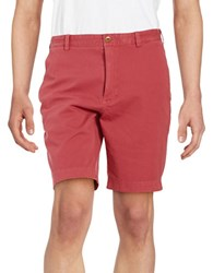 Brooks Brothers Cotton Stretch Knit Shorts Red