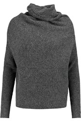 J Brand Lindley Stretch Knit Sweater Gray
