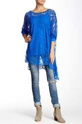 Luma Long Sleeve Blouse Blue