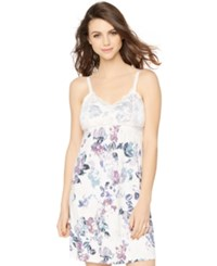 A Pea In The Pod Floral Print Nursing Nightgown