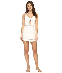 Seafolly Botanica Tie Front Playsuit Cover Up Milk Women's Jumpsuit And Rompers One Piece White