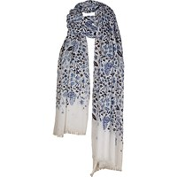 Fat Face Butterfly Garden Sequin Scarf White