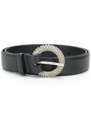 Orciani Round Buckle Belt Black