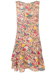 Etro Micro Printed Dress Yellow