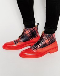 Vivienne Westwood Brogue Boots Red