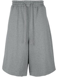 Juun.J Embroidered Track Shorts Grey