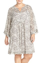Plus Size Women's Two By Vince Camuto Animal Print Shift Dress