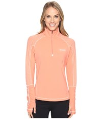 Columbia Trail Flash 1 2 Zip Shirt Lychee Light Coral Women's Long Sleeve Pullover Orange