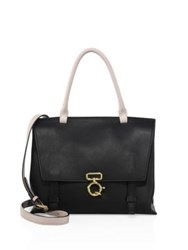 Derek Lam Soft Ave Colorblock Leather Crossbody Bag Black Nude