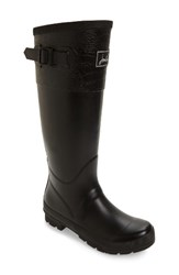Joules Women's Cavendish Rain Boot True Black Crocodile