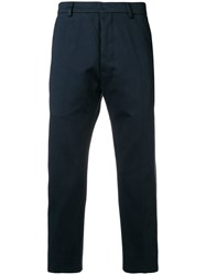 Ami Alexandre Mattiussi Straight Fit Trousers Blue