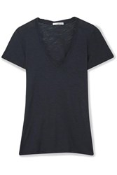 James Perse Slub Supima Cotton Jersey T Shirt Midnight Blue