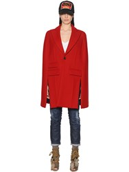 Dsquared Felted Wool Cape Coat