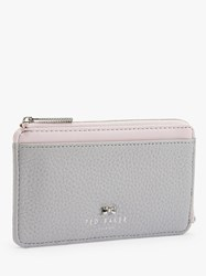 Ted Baker Lotta Leather Zipped Coin And Card Holder Grey
