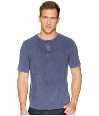 Mod O Doc Montecito Short Sleeve Henley New Navy Stone Short Sleeve Knit Blue