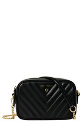 Freida Rothman Lexington Quilted Leather Camera Bag Black