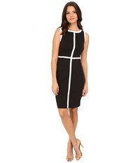 Calvin Klein Color Block Sheath Dress Black White Women's Dress