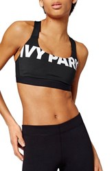 Women's Ivy Park Logo Sports Bra Black