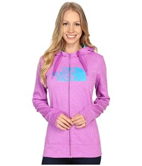 The North Face Fave Half Dome Full Zip Hoodie Sweet Violet Heather Bluebird Women's Sweatshirt Pink