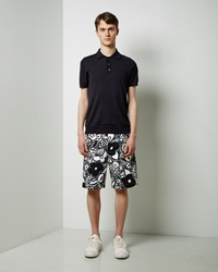 Marni Printed Cotton Shorts Spherical Green