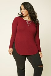 Forever 21 Plus Size Elbow Patch Top