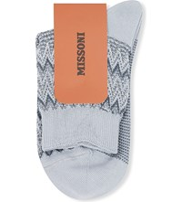 Missoni Zigzag Short Ankle Socks Grey 007